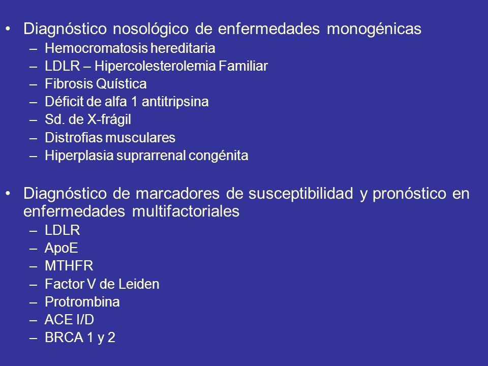 Diagnóstico nosológico de enfermedades monogénicas