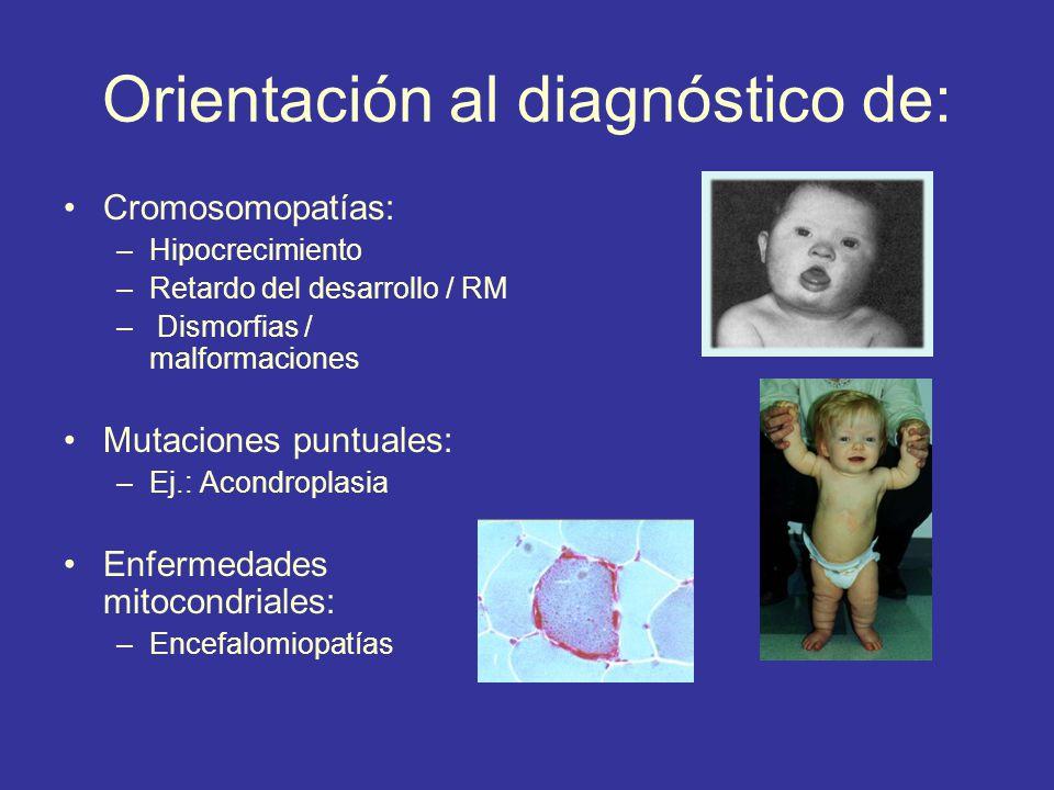 Orientación al diagnóstico de: