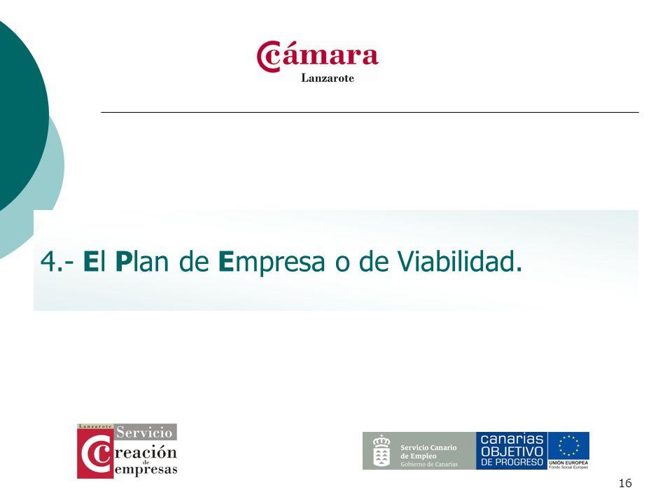 4.- El Plan de Empresa o de Viabilidad.