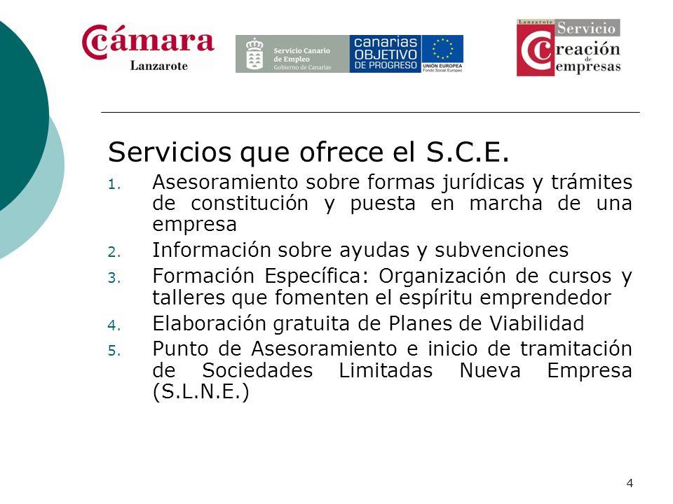 Servicios que ofrece el S.C.E.
