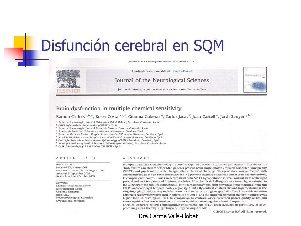 Disfunción cerebral en SQM