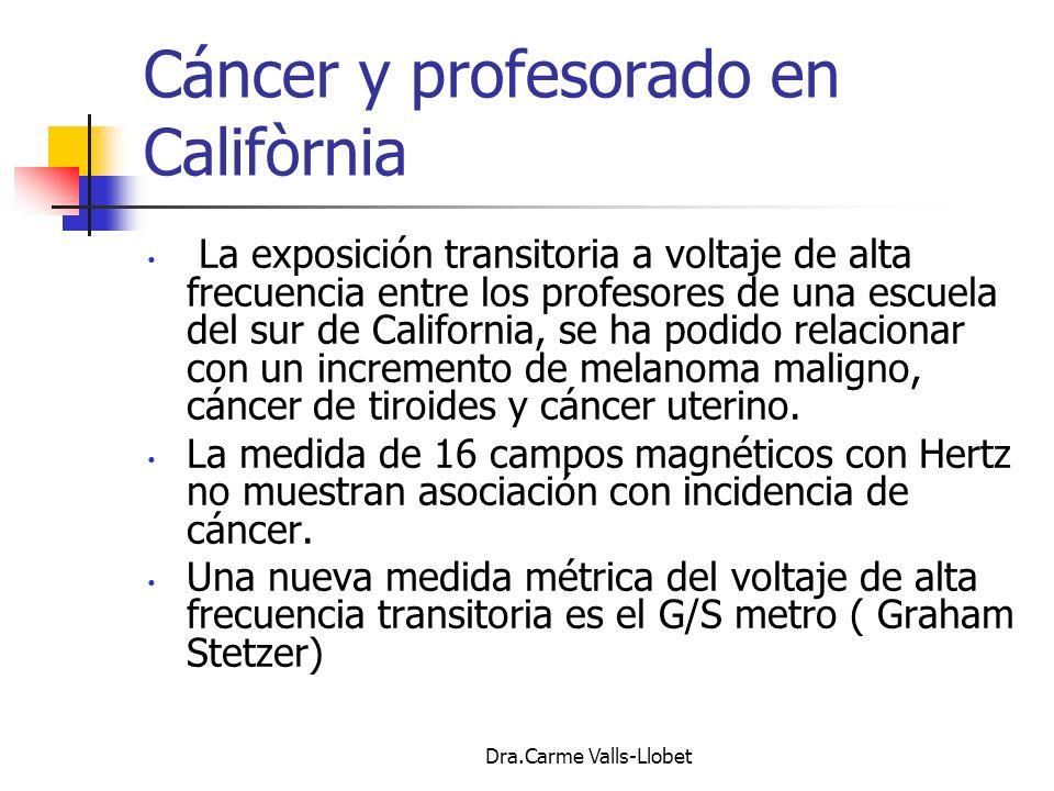 Cáncer y profesorado en Califòrnia