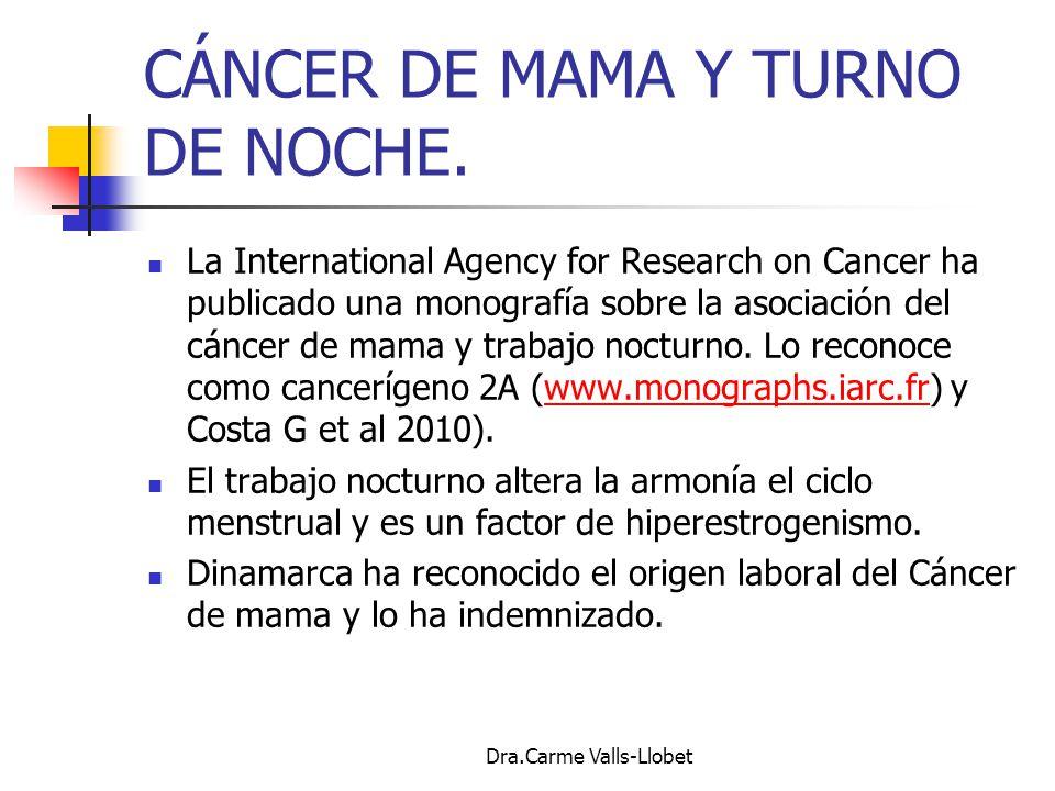 CÁNCER DE MAMA Y TURNO DE NOCHE.