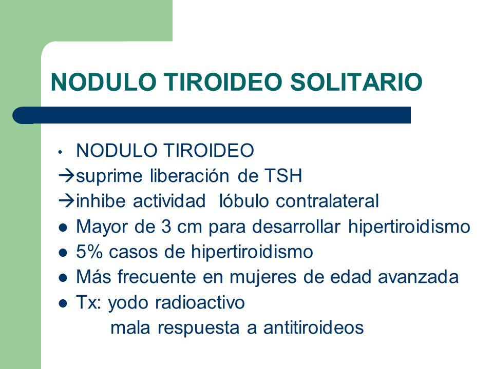 NODULO TIROIDEO SOLITARIO