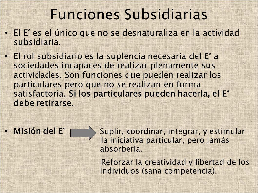 Funciones Subsidiarias