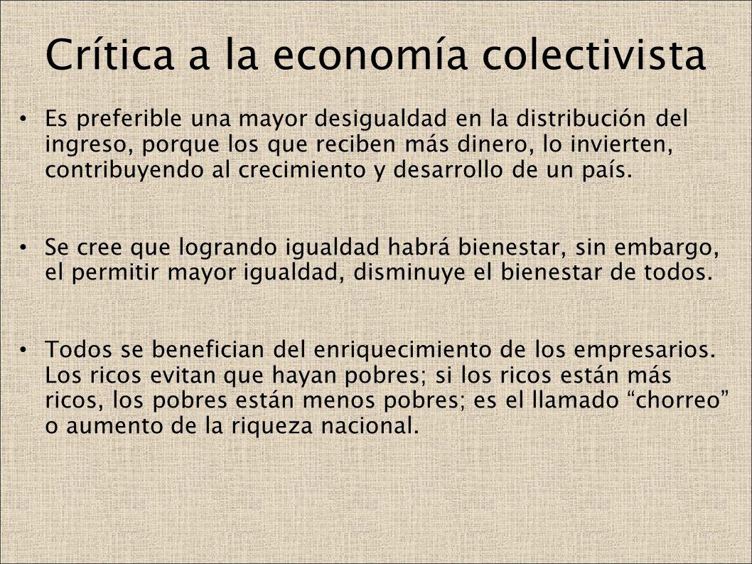 Crítica a la economía colectivista