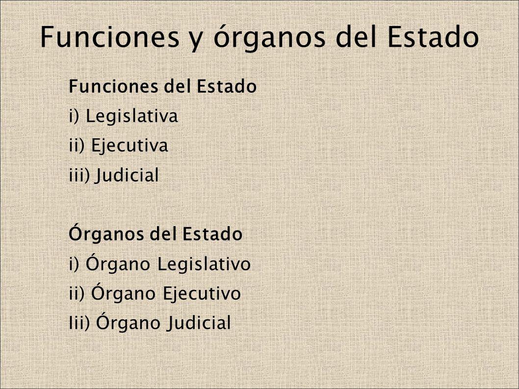 Funciones y órganos del Estado