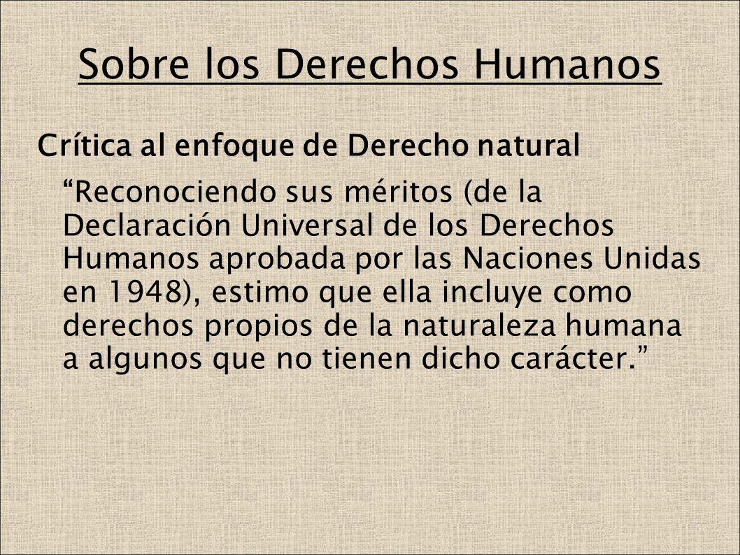 Sobre los Derechos Humanos