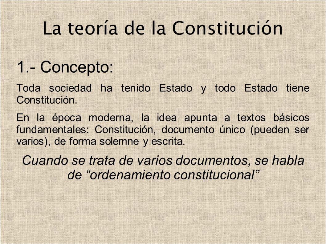 La teoría de la Constitución