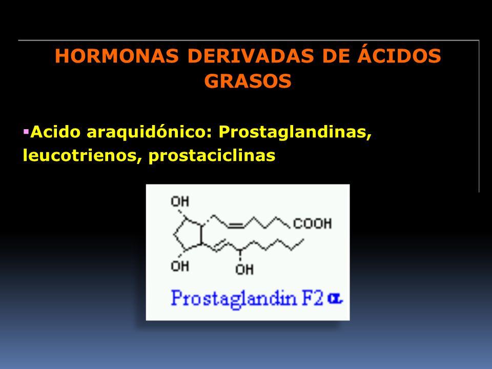 HORMONAS DERIVADAS DE ÁCIDOS GRASOS