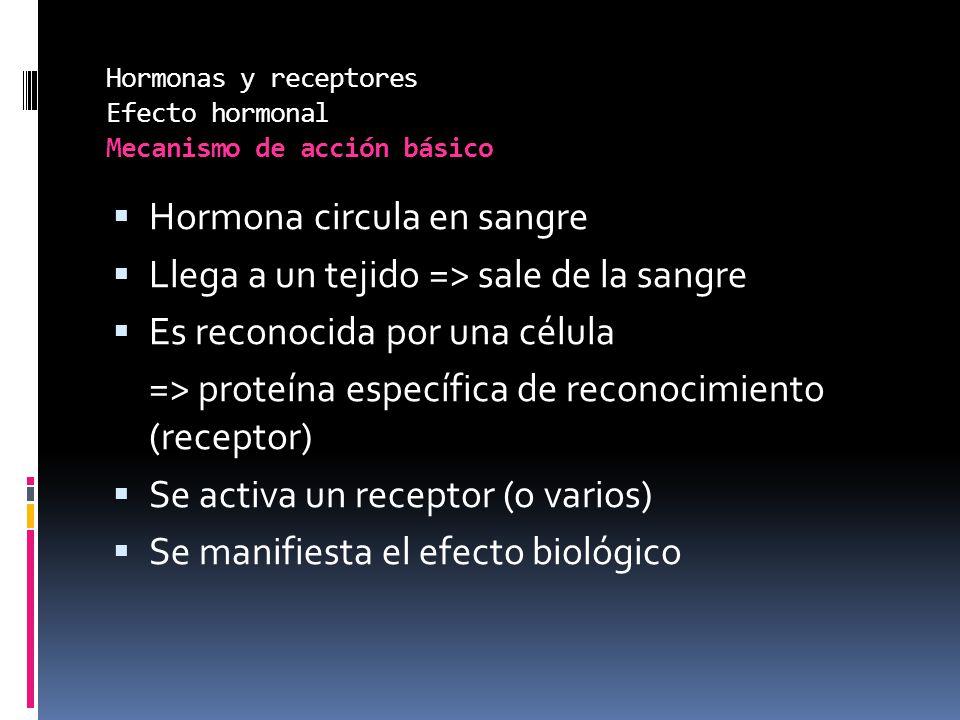 Hormonas y receptores Efecto hormonal Mecanismo de acción básico