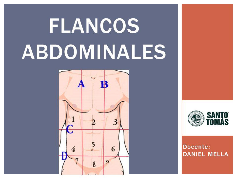 Flancos abdominales Docente: DANIEL MELLA