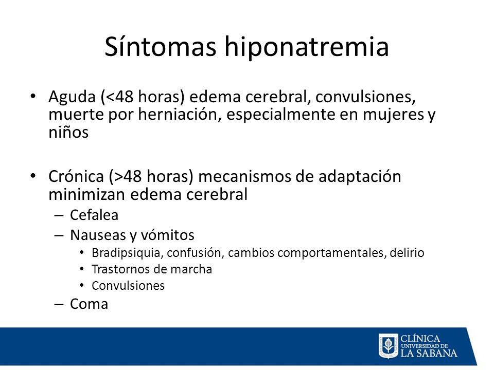 Síntomas hiponatremia
