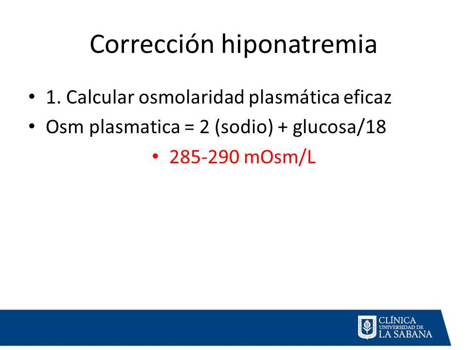 Corrección hiponatremia