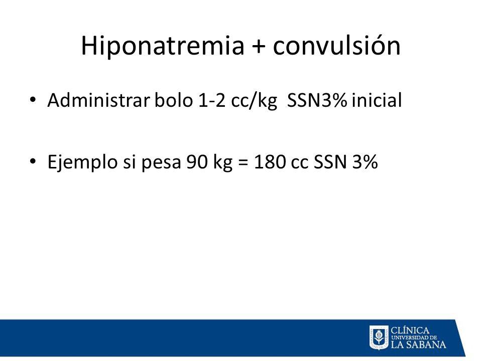 Hiponatremia + convulsión