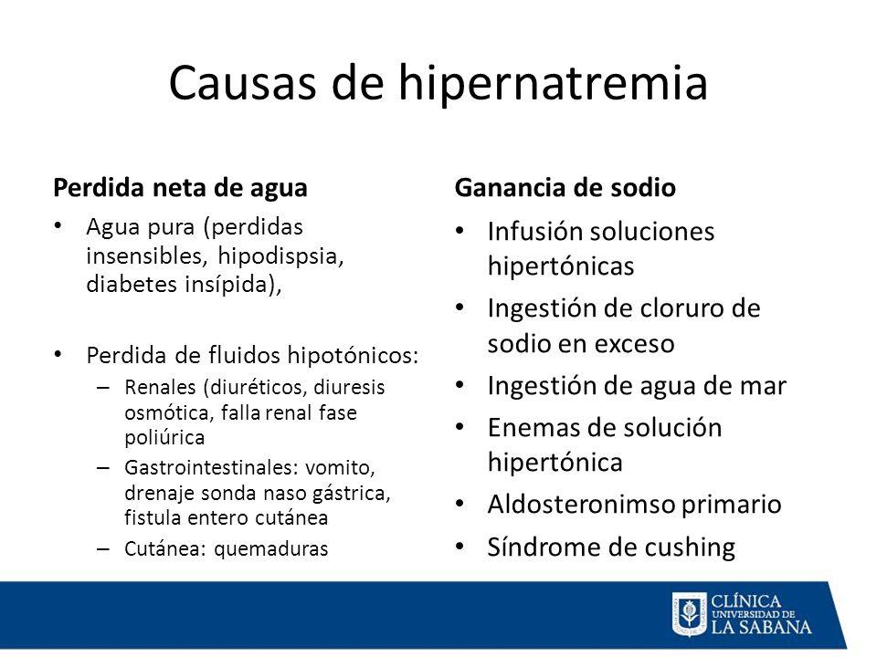 Causas de hipernatremia
