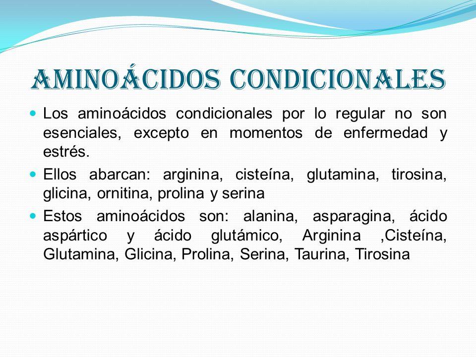 aminoácidos condicionales