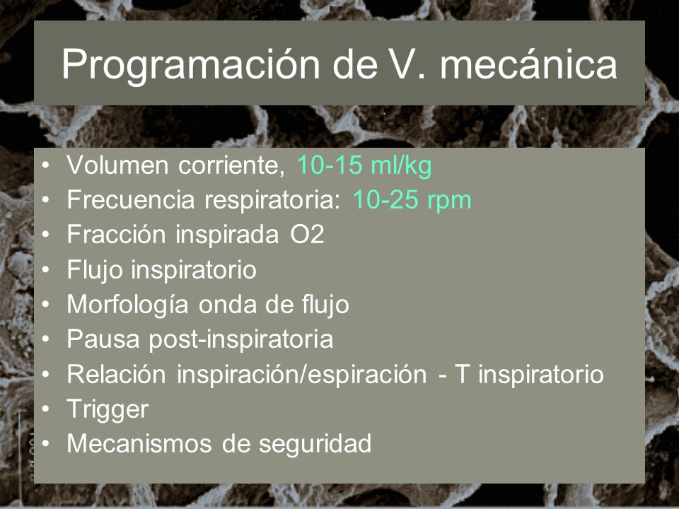 Programación de V. mecánica
