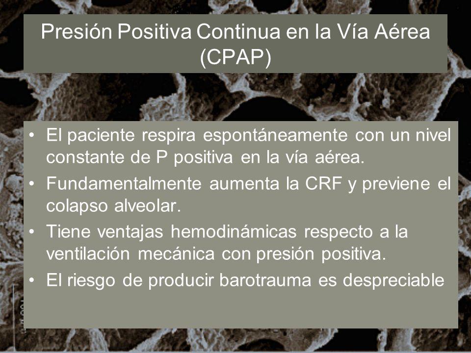 Presión Positiva Continua en la Vía Aérea (CPAP)