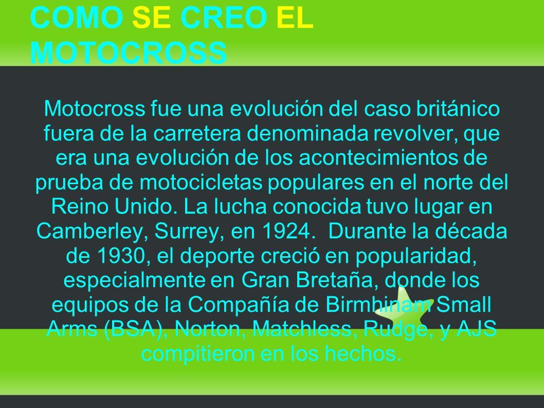 COMO SE CREO EL MOTOCROSS