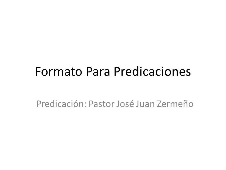 Formato Para Predicaciones