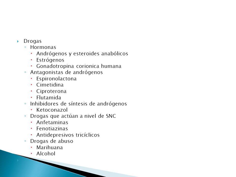 Drogas Hormonas. Andrógenos y esteroides anabólicos. Estrógenos. Gonadotropina corionica humana.