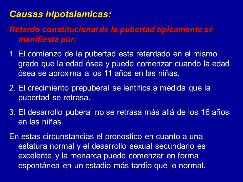 Causas hipotalamicas: