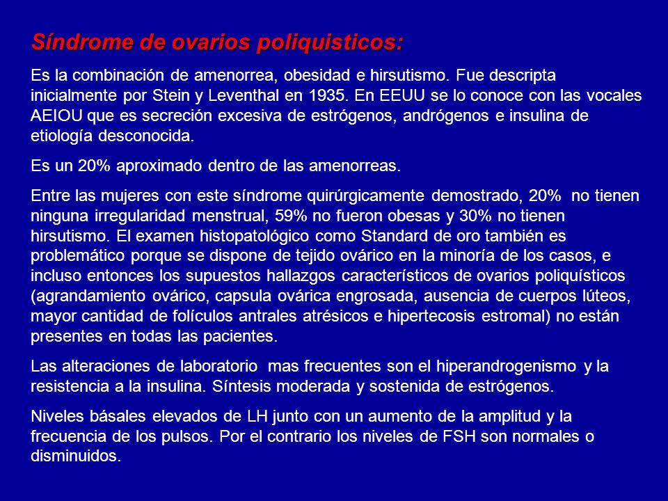 Síndrome de ovarios poliquisticos: