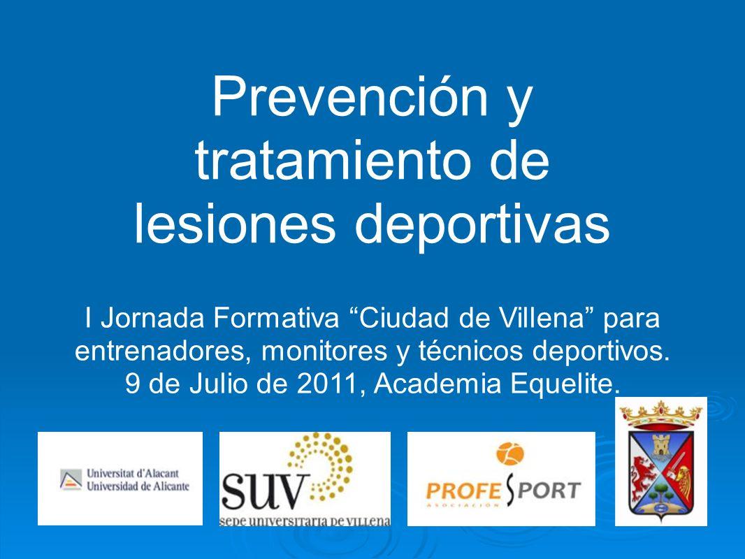 Prevención y tratamiento de lesiones deportivas