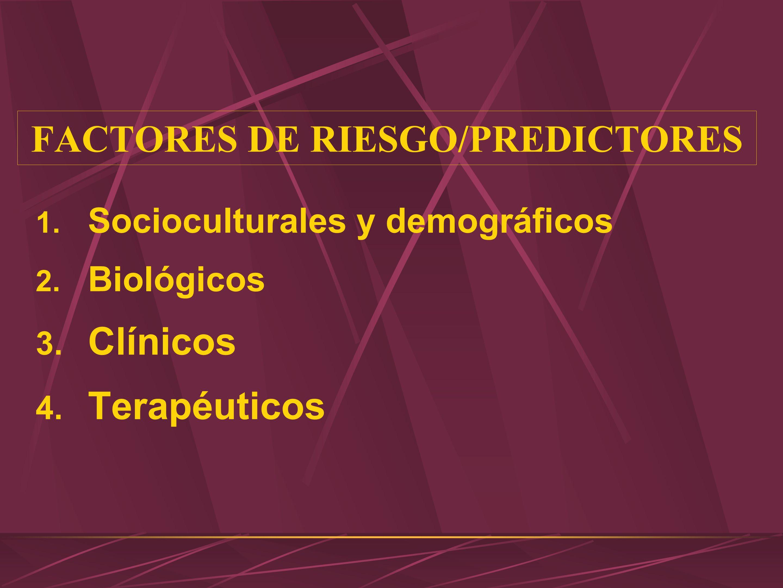FACTORES DE RIESGO/PREDICTORES