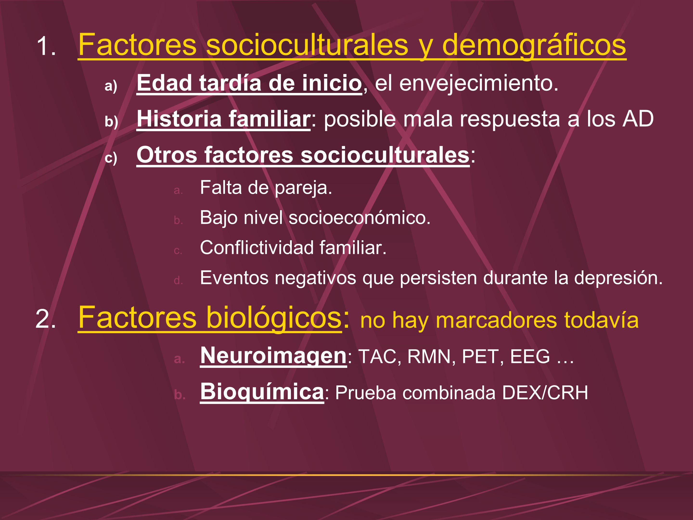 Factores socioculturales y demográficos