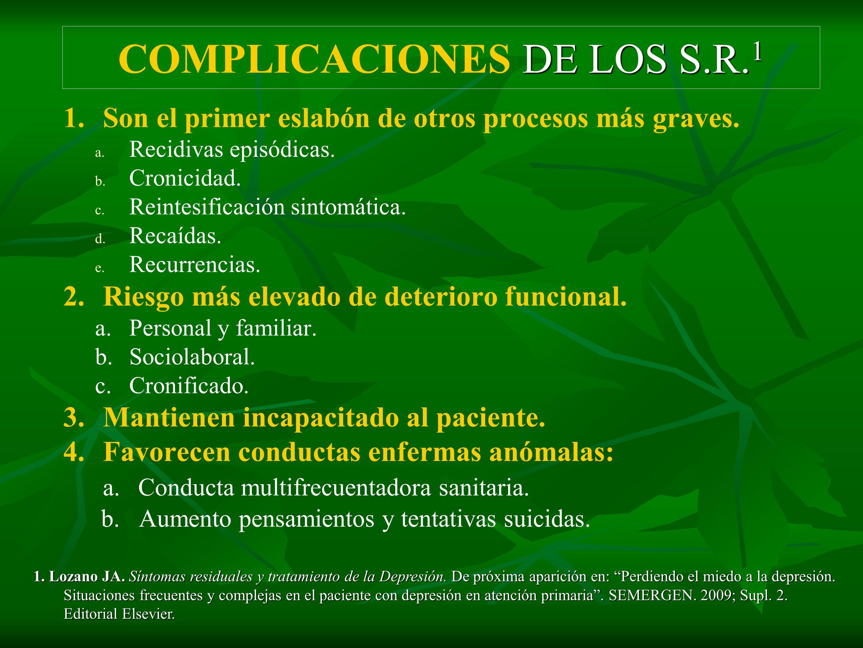 COMPLICACIONES DE LOS S.R.1
