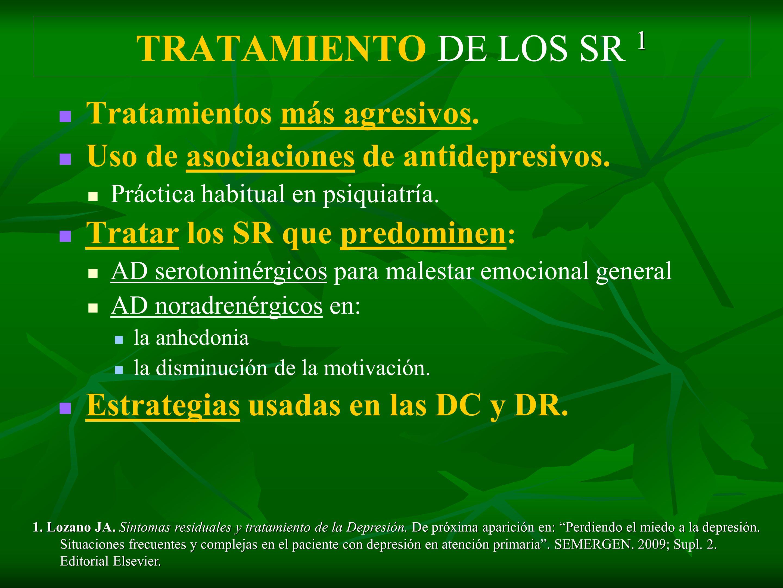 TRATAMIENTO DE LOS SR 1 Tratamientos más agresivos.
