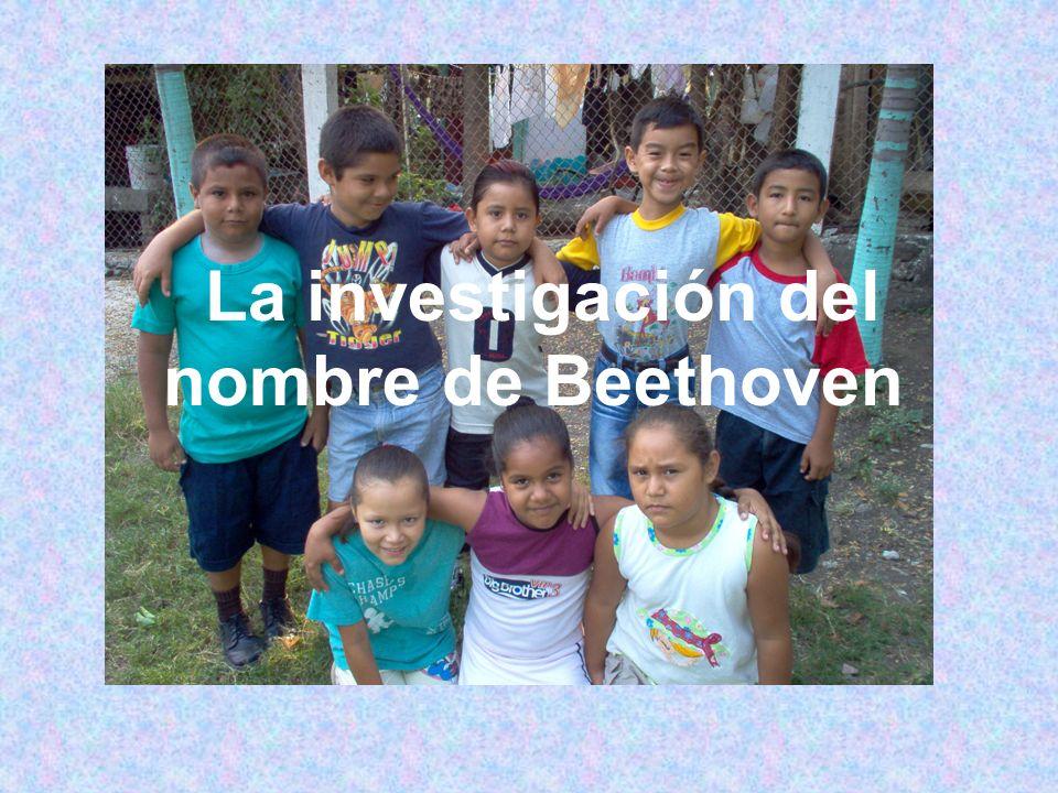 La investigación del nombre de Beethoven