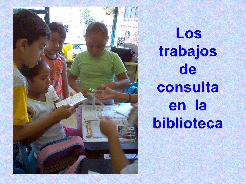 Los trabajos de consulta en la biblioteca