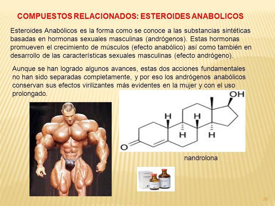 COMPUESTOS RELACIONADOS: ESTEROIDES ANABOLICOS
