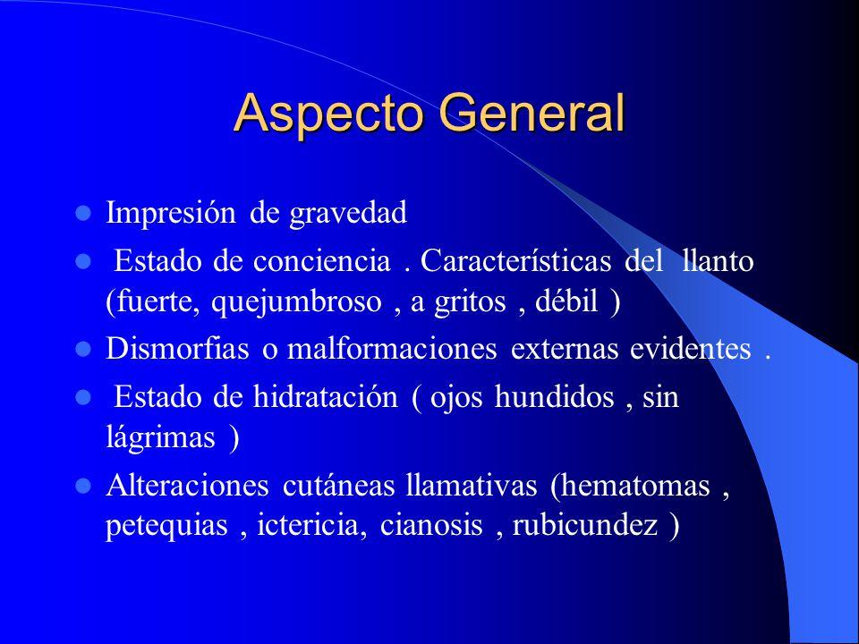 Aspecto General Impresión de gravedad