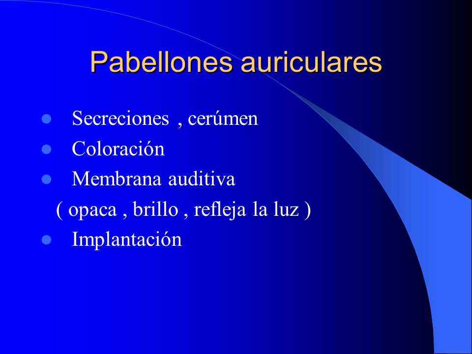 Pabellones auriculares