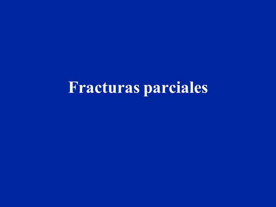 Fracturas parciales