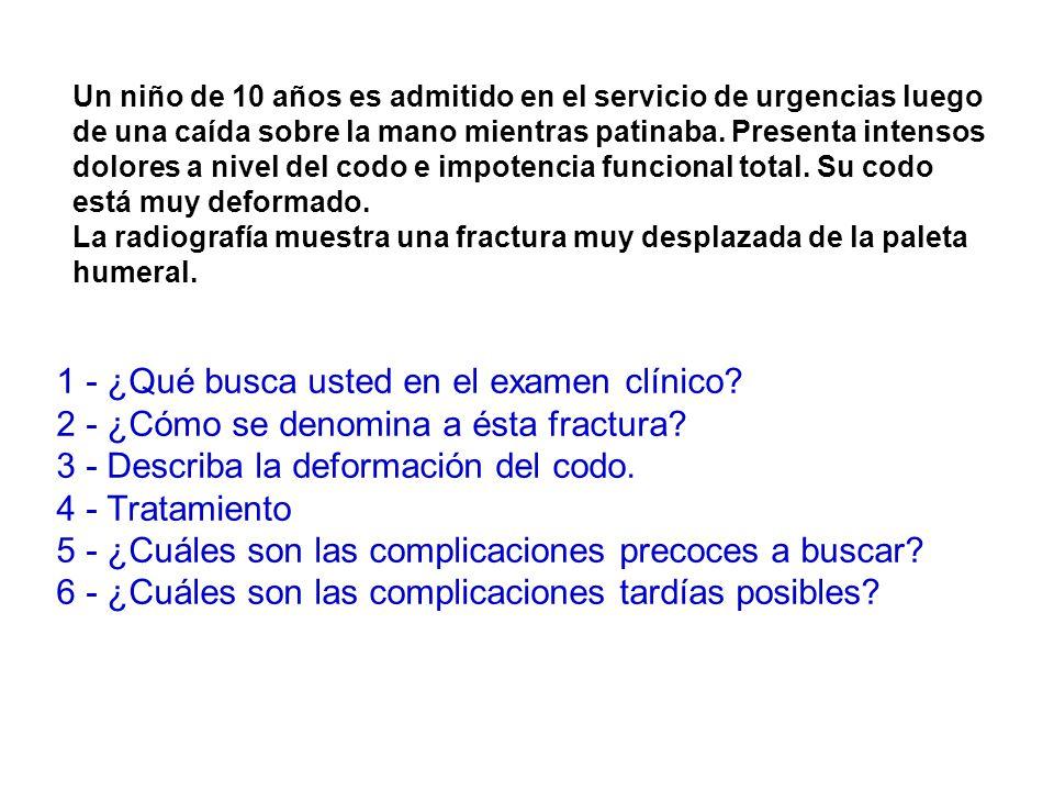 1 - ¿Qué busca usted en el examen clínico