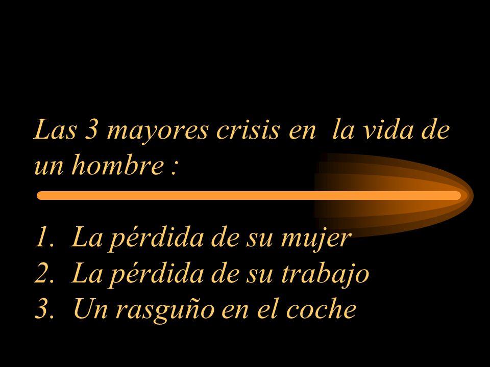Las 3 mayores crisis en la vida de un hombre : 1
