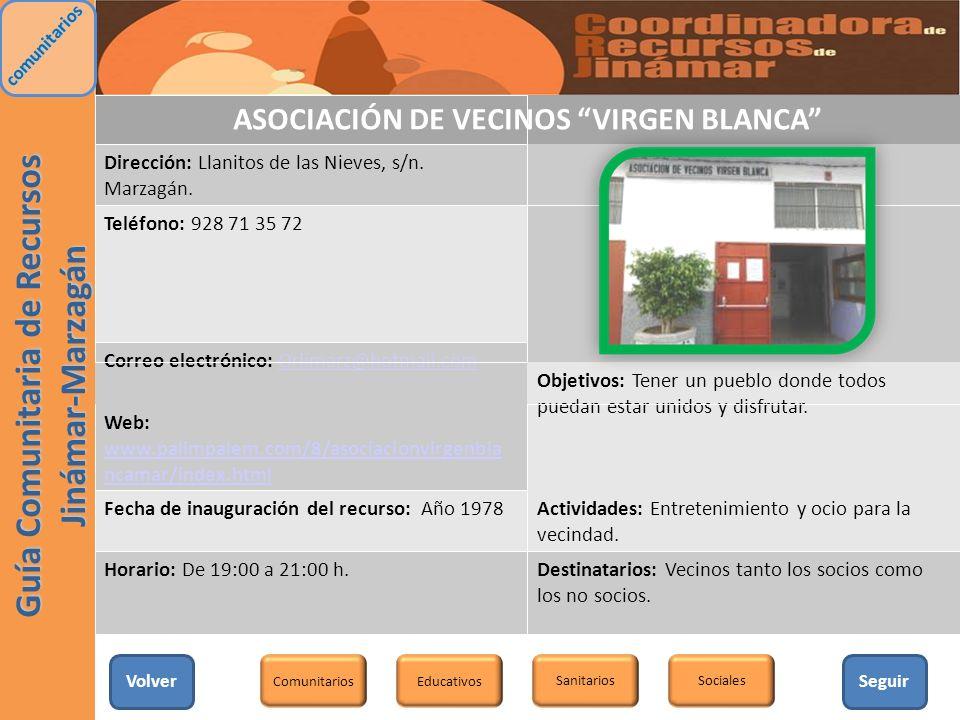 ASOCIACIÓN DE VECINOS VIRGEN BLANCA