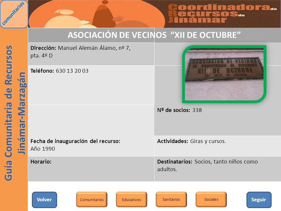 ASOCIACIÓN DE VECINOS XII DE OCTUBRE