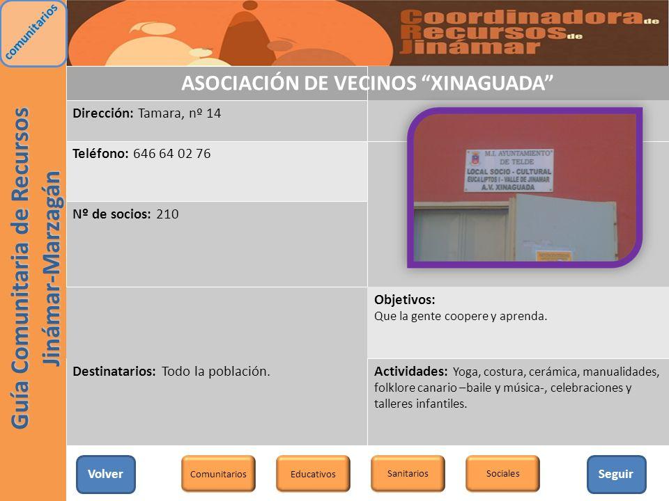 ASOCIACIÓN DE VECINOS XINAGUADA