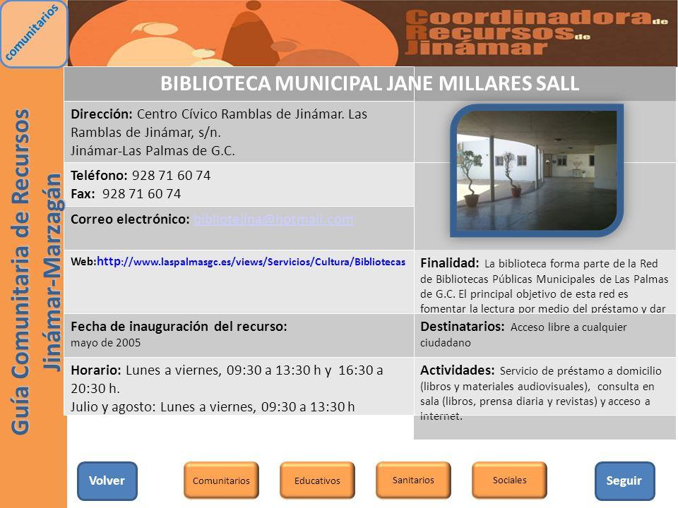BIBLIOTECA MUNICIPAL JANE MILLARES SALL