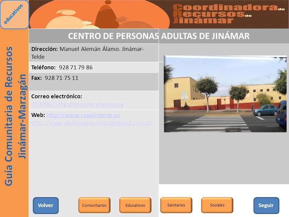 CENTRO DE PERSONAS ADULTAS DE JINÁMAR