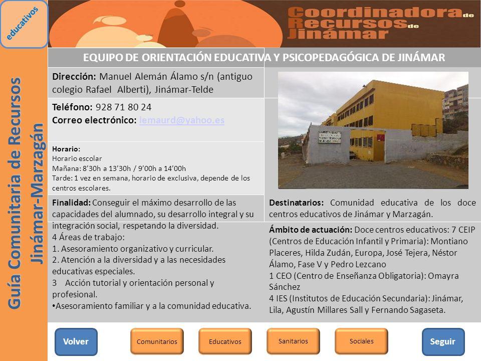 EQUIPO DE ORIENTACIÓN EDUCATIVA Y PSICOPEDAGÓGICA DE JINÁMAR