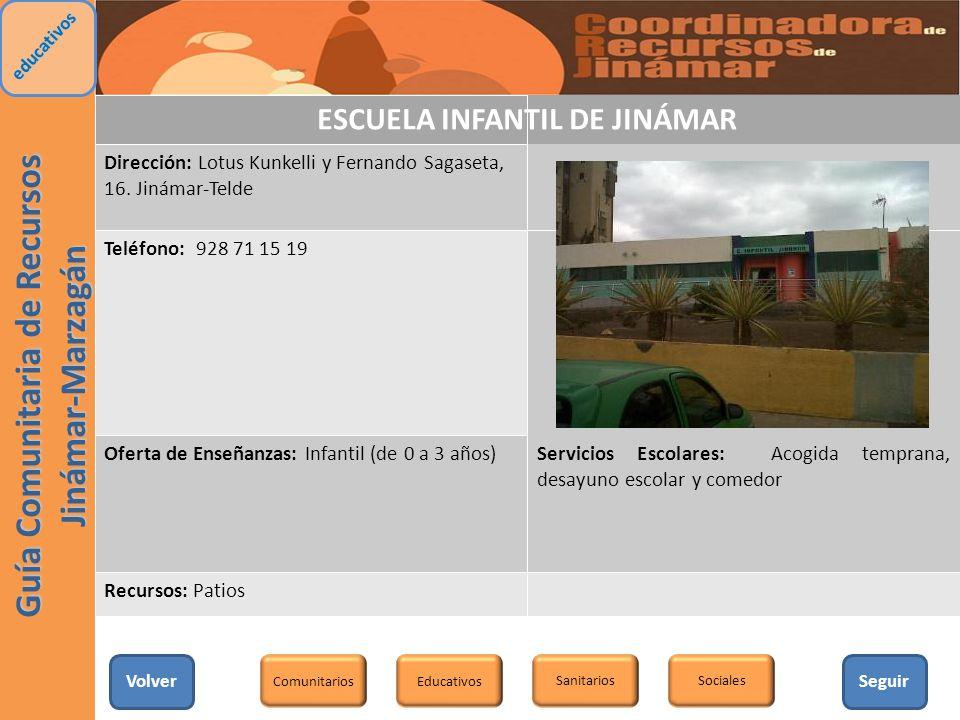 ESCUELA INFANTIL DE JINÁMAR