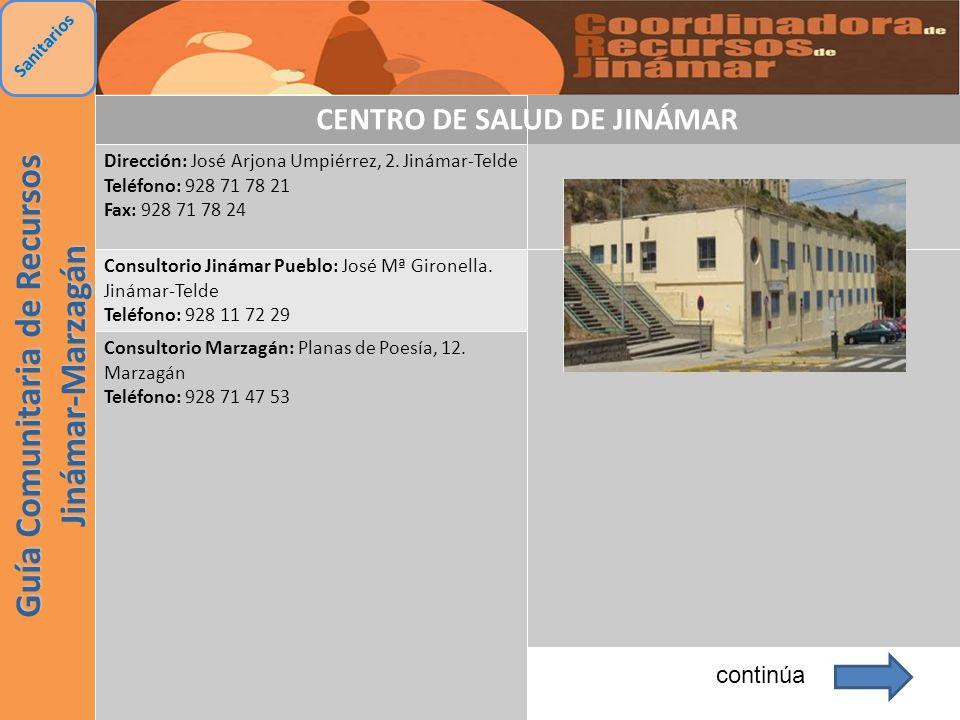 CENTRO DE SALUD DE JINÁMAR