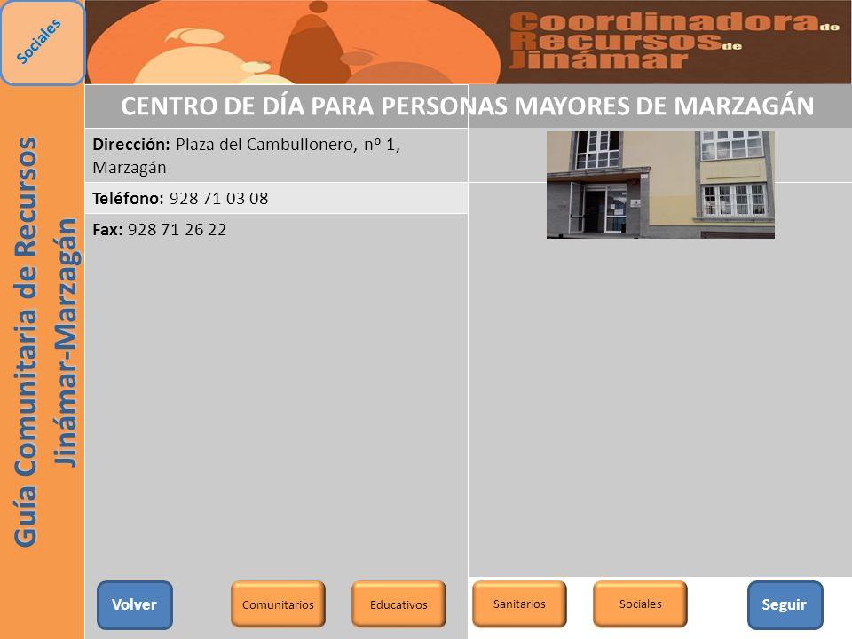 CENTRO DE DÍA PARA PERSONAS MAYORES DE MARZAGÁN